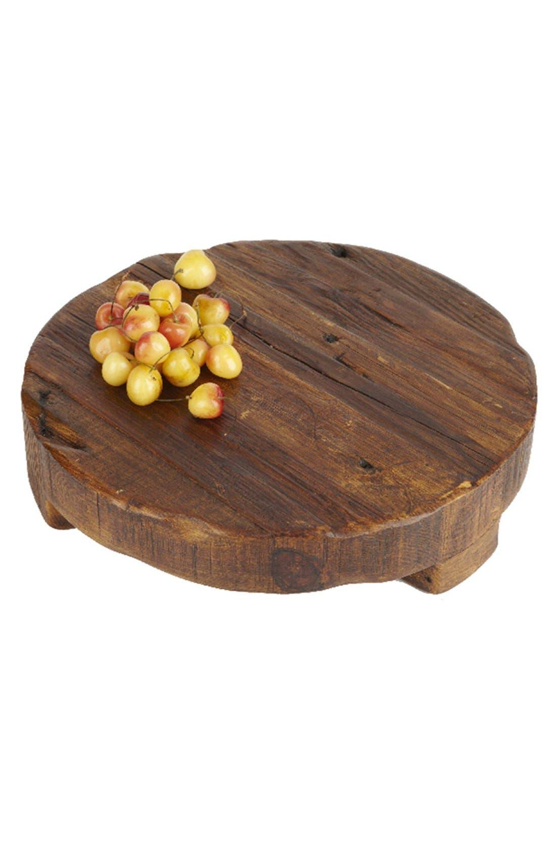 Round Wooden Trivet,                             Alternate thumbnail 2, color,                             Brown Wood