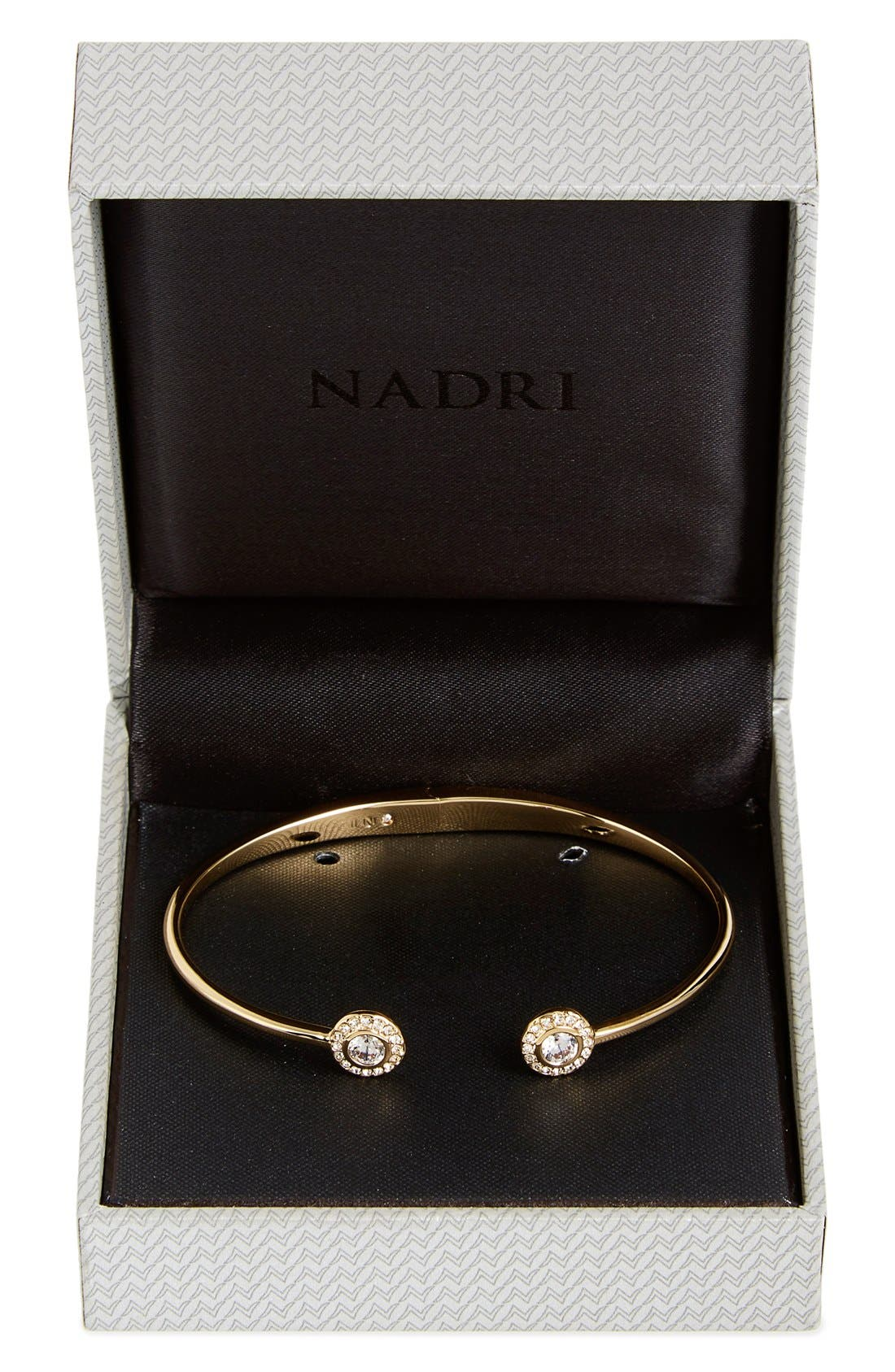 Alternate Image 2  - Nadri Framed Crystal Skinny Cuff