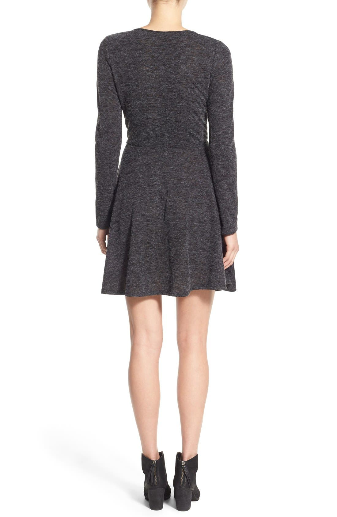 Alternate Image 2  - jella c. Long Sleeve Wrap Dress