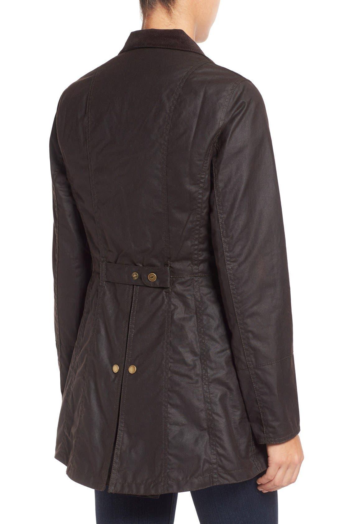 Alternate Image 3  - Barbour 'Holsteiner' Skirted Waxed Cotton Jacket