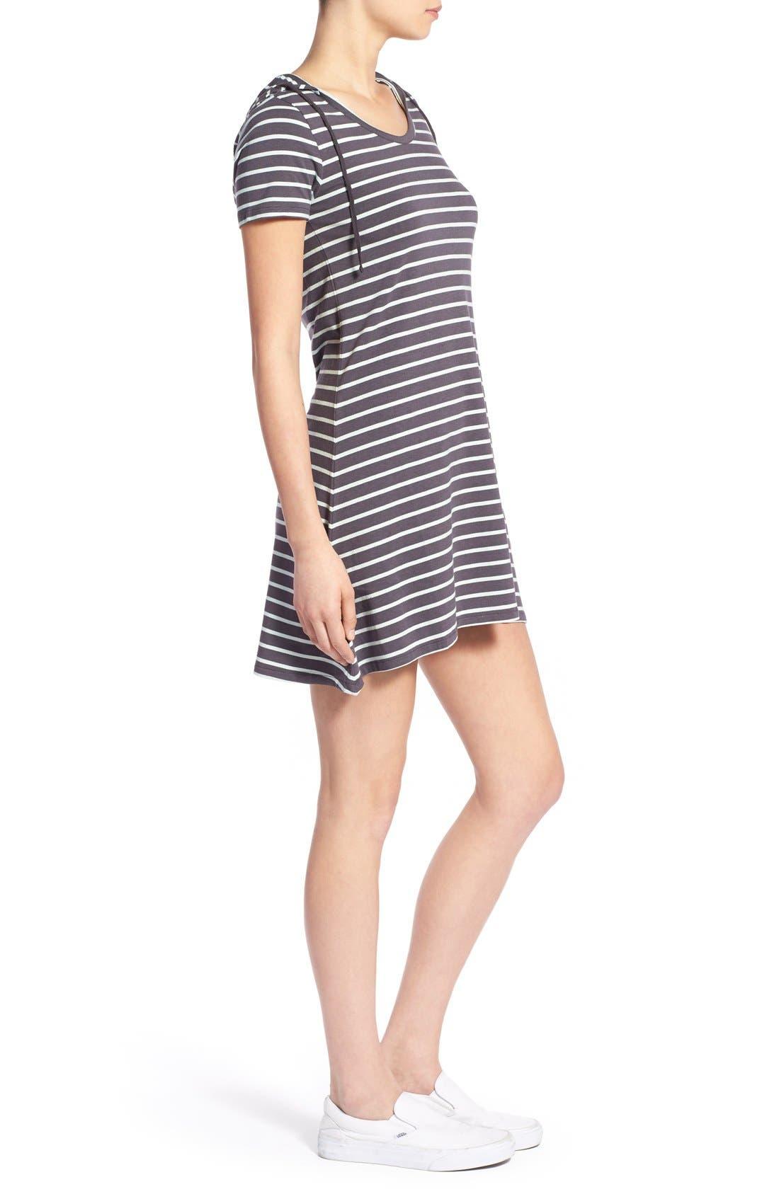 Alternate Image 3  - Element Stripe Hooded Dress