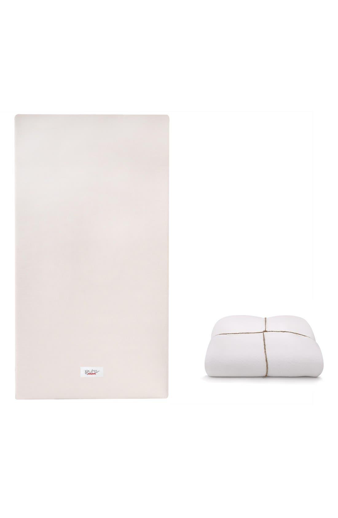 'Coco Core' Nontoxic Crib Mattress & Water Repellent SMART Cover,                         Main,                         color, White