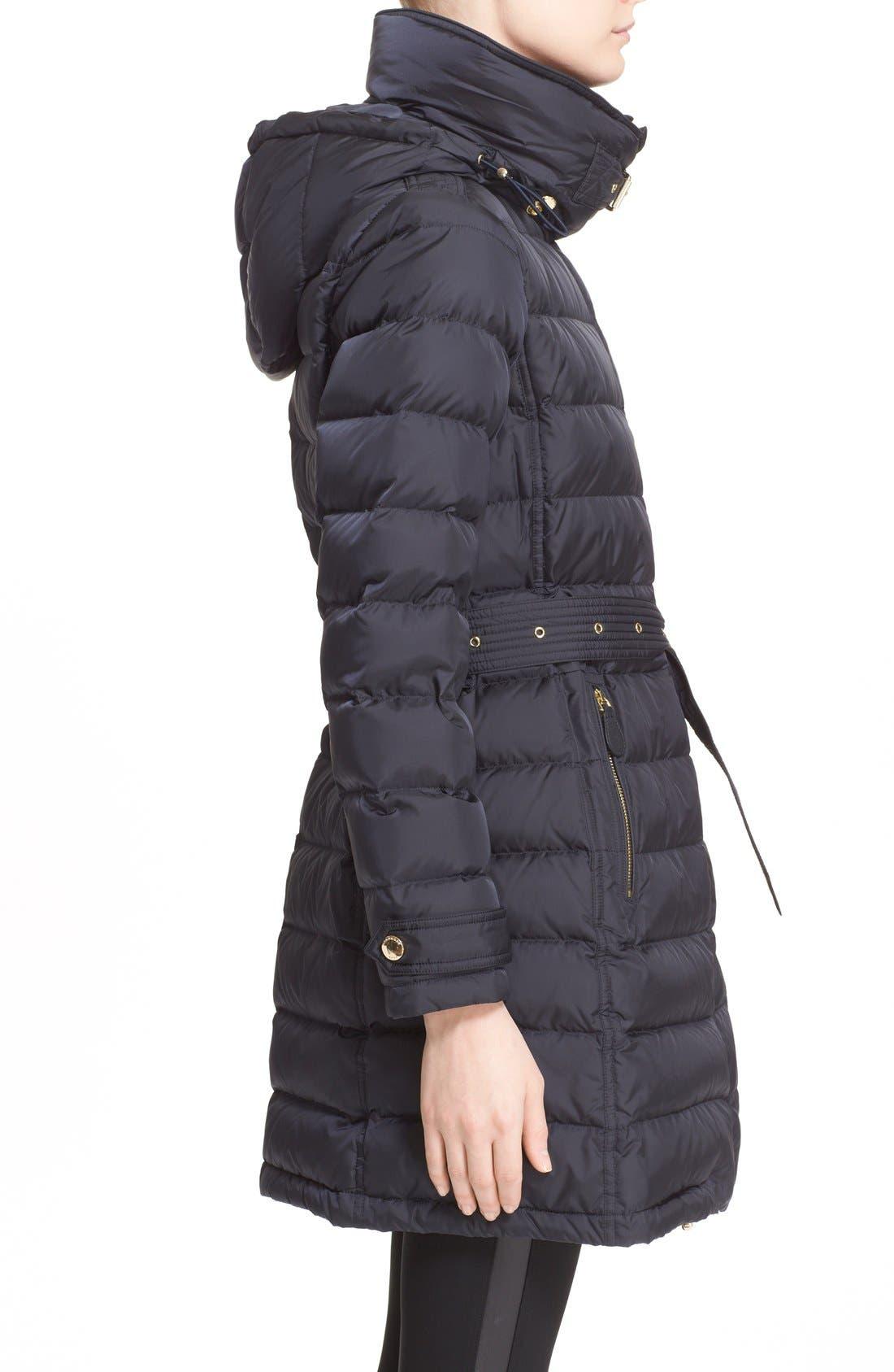 Alternate Image 3  - Burberry Brit 'Winterleigh' Belted Down Coat