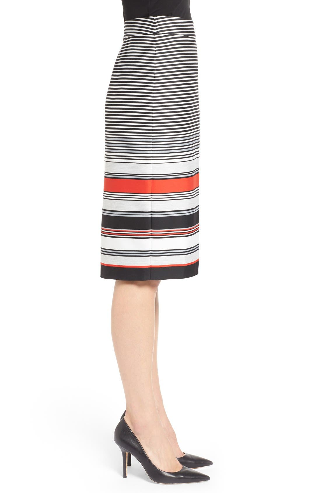 Alternate Image 3  - Classiques Entier® 'Gallery Stripe' Pencil Skirt (Regular & Petite)