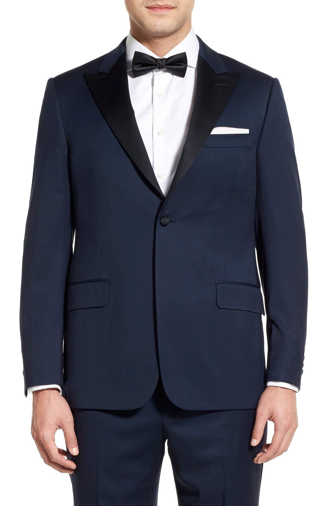 Alternate Image 6  - Hickey Freeman Classic B Fit Wool Tuxedo
