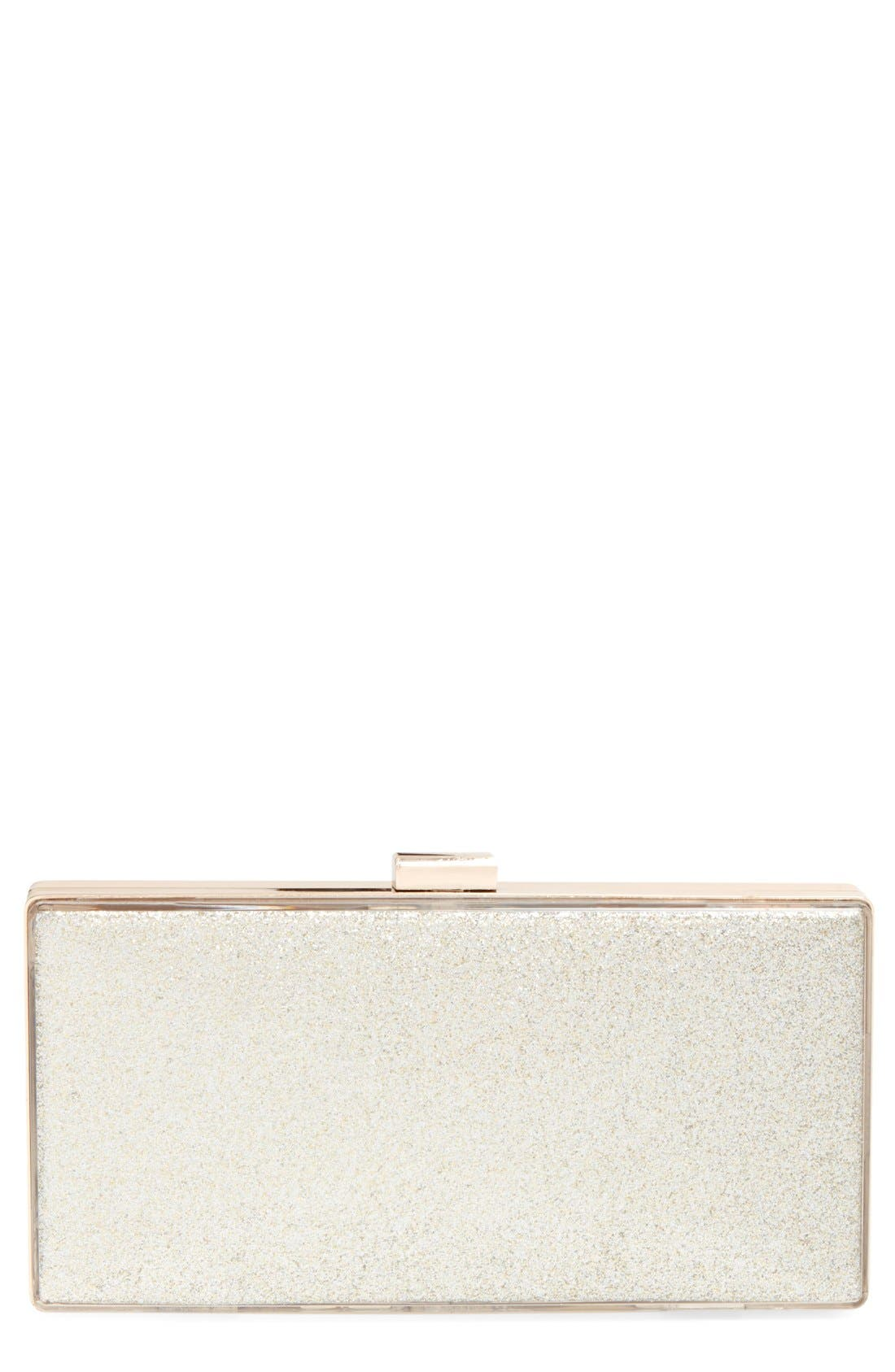Main Image - Tasha Glitter Colorblock Box Clutch