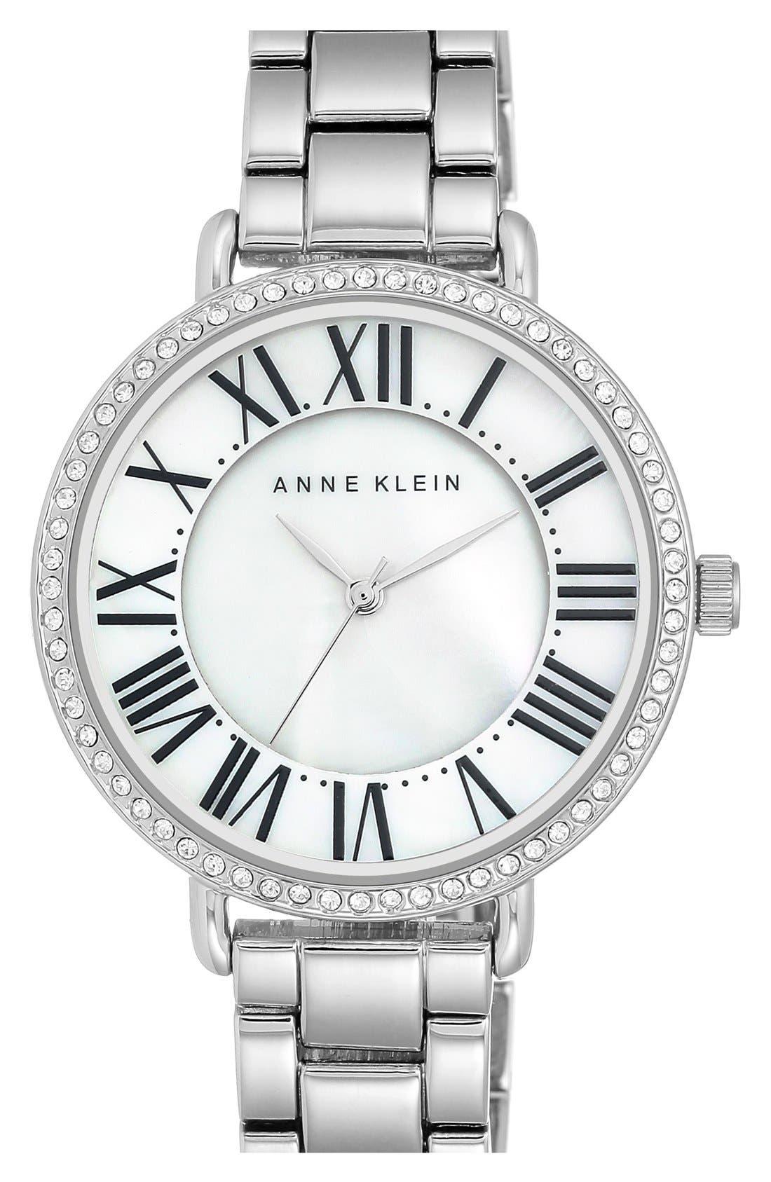 Round Bracelet Watch, 36mm,                             Main thumbnail 1, color,                             Silver