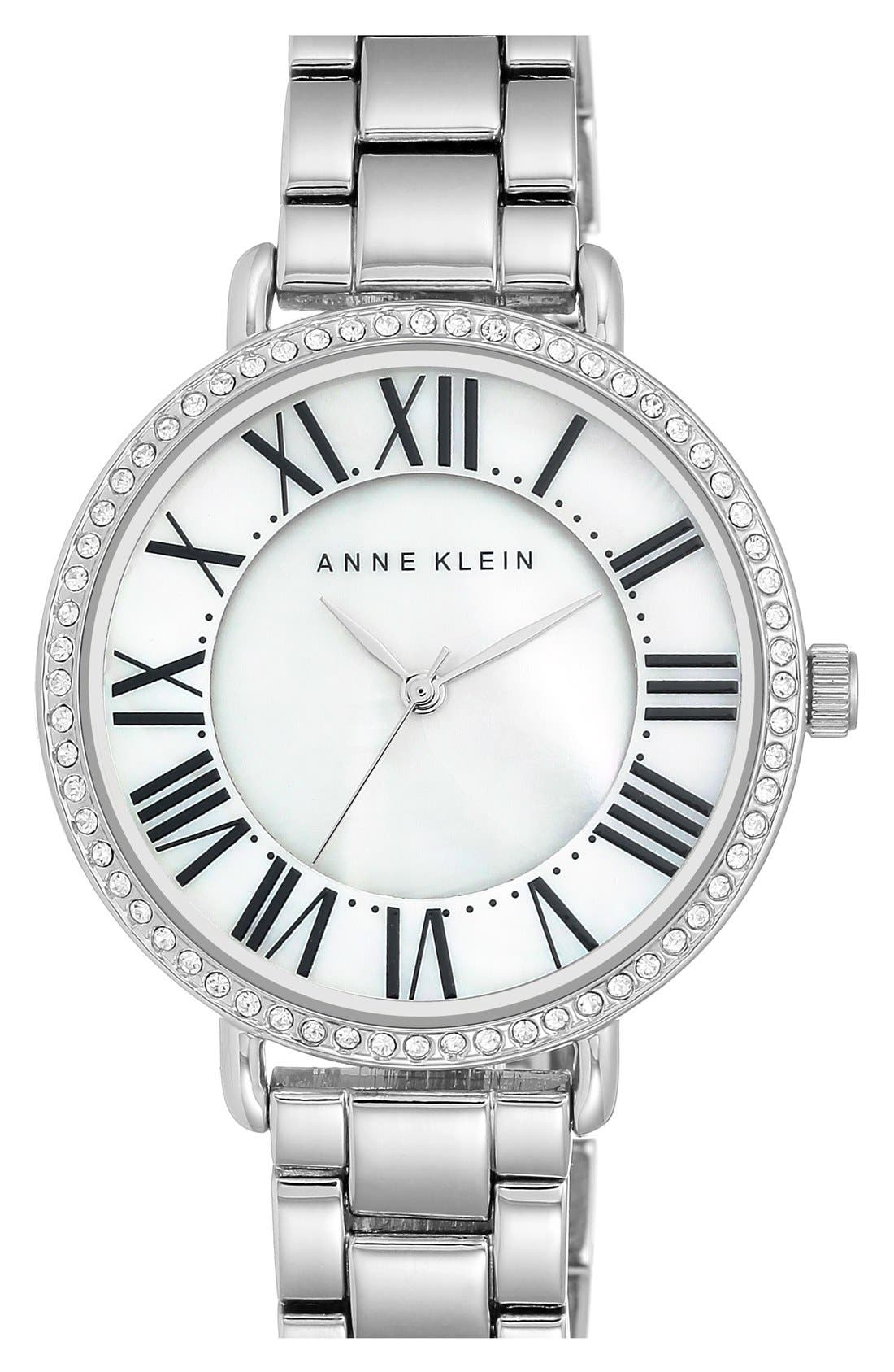Round Bracelet Watch, 36mm,                         Main,                         color, Silver