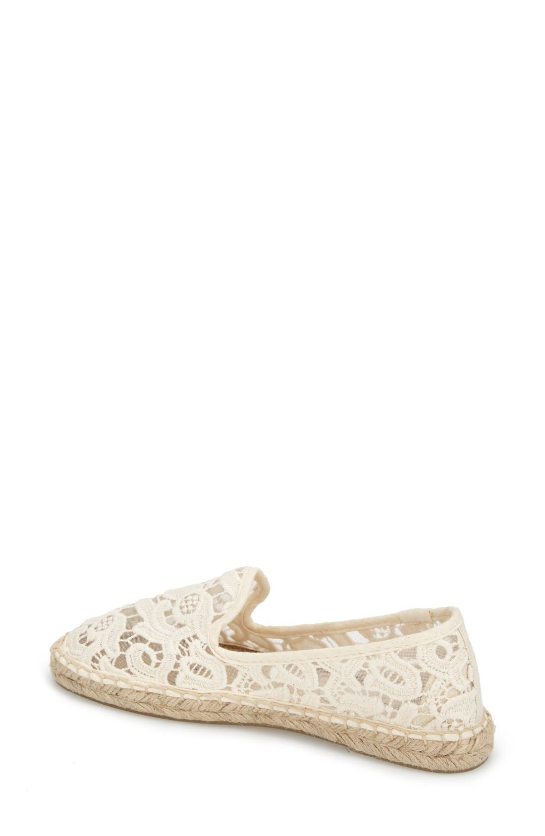 Alternate Image 2  - Soludos Lace Espadrille Slip-On (Women)