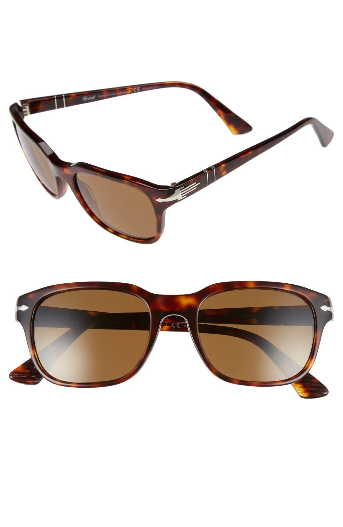Persol 53mm Polarized Sunglasses