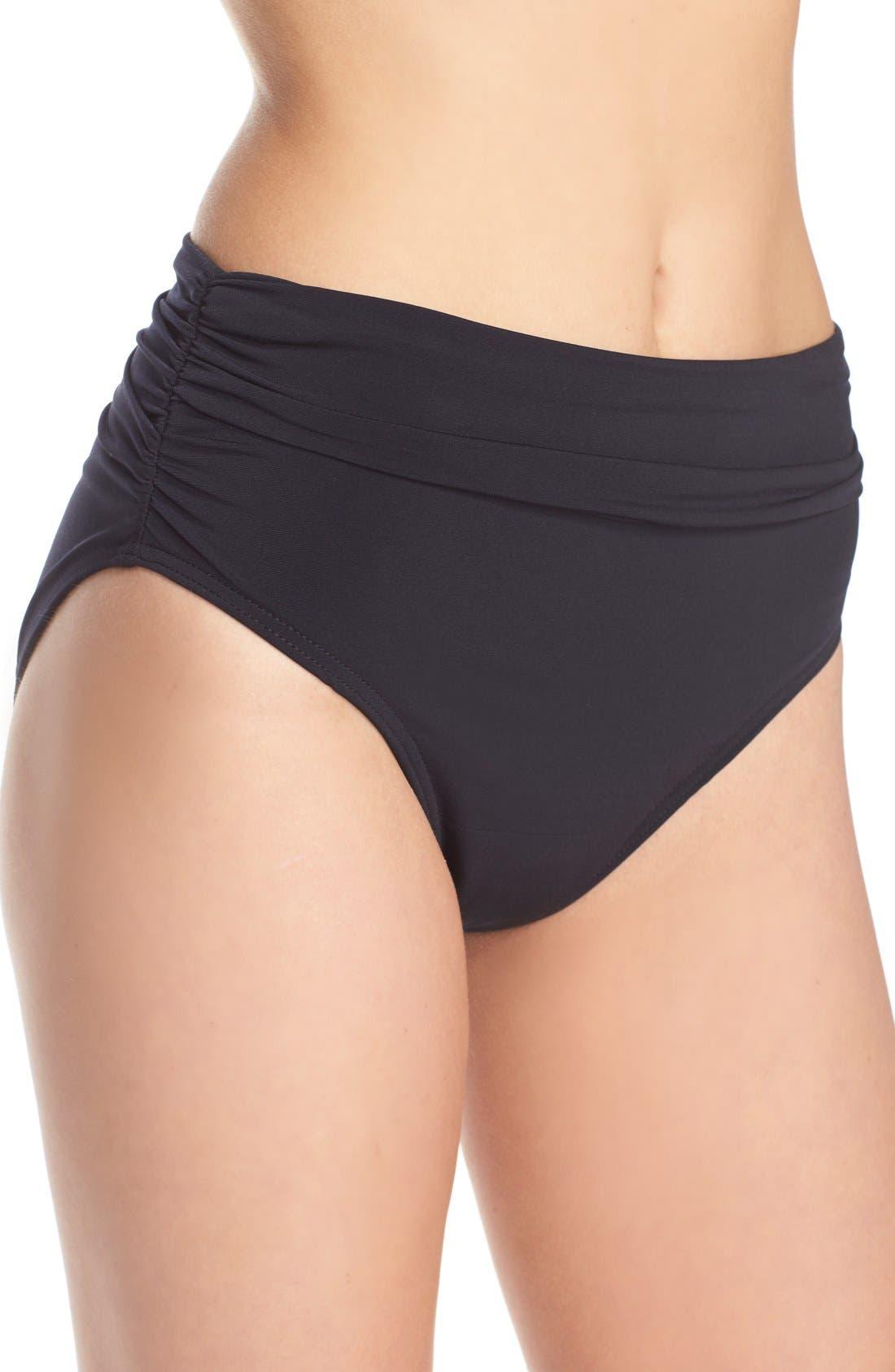 Alternate Image 4  - Magicsuit® Ruched Bikini Bottoms