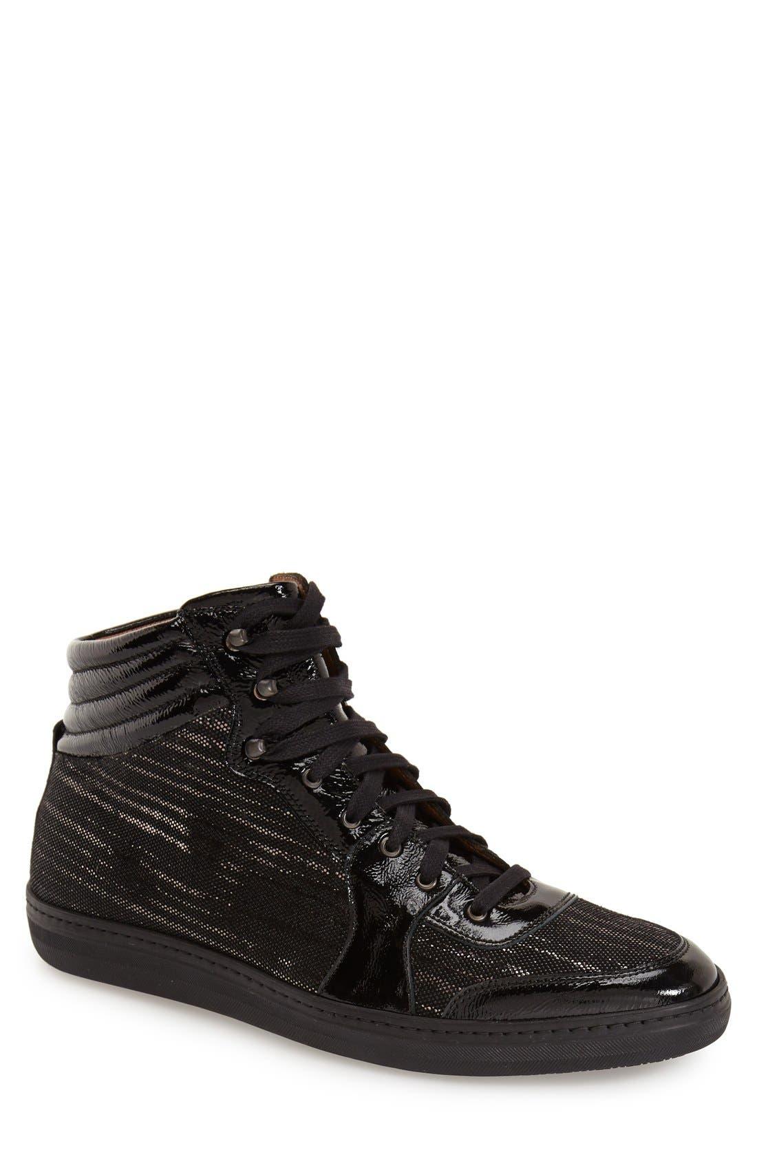 'Bordeau' Sneaker,                             Main thumbnail 1, color,                             Black