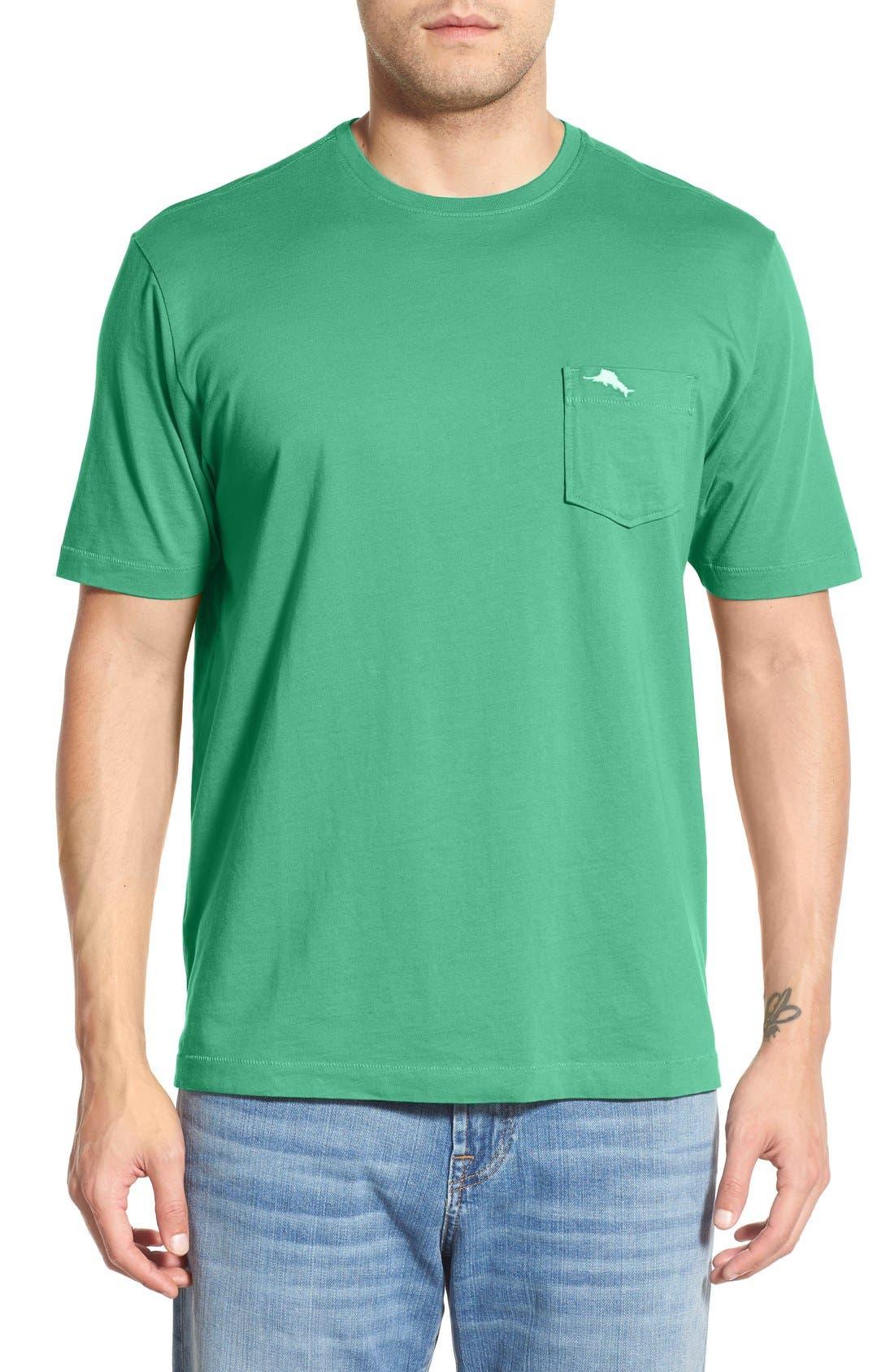 New Bali Sky Pima Cotton Pocket T-Shirt,                         Main,                         color, Greens Fee