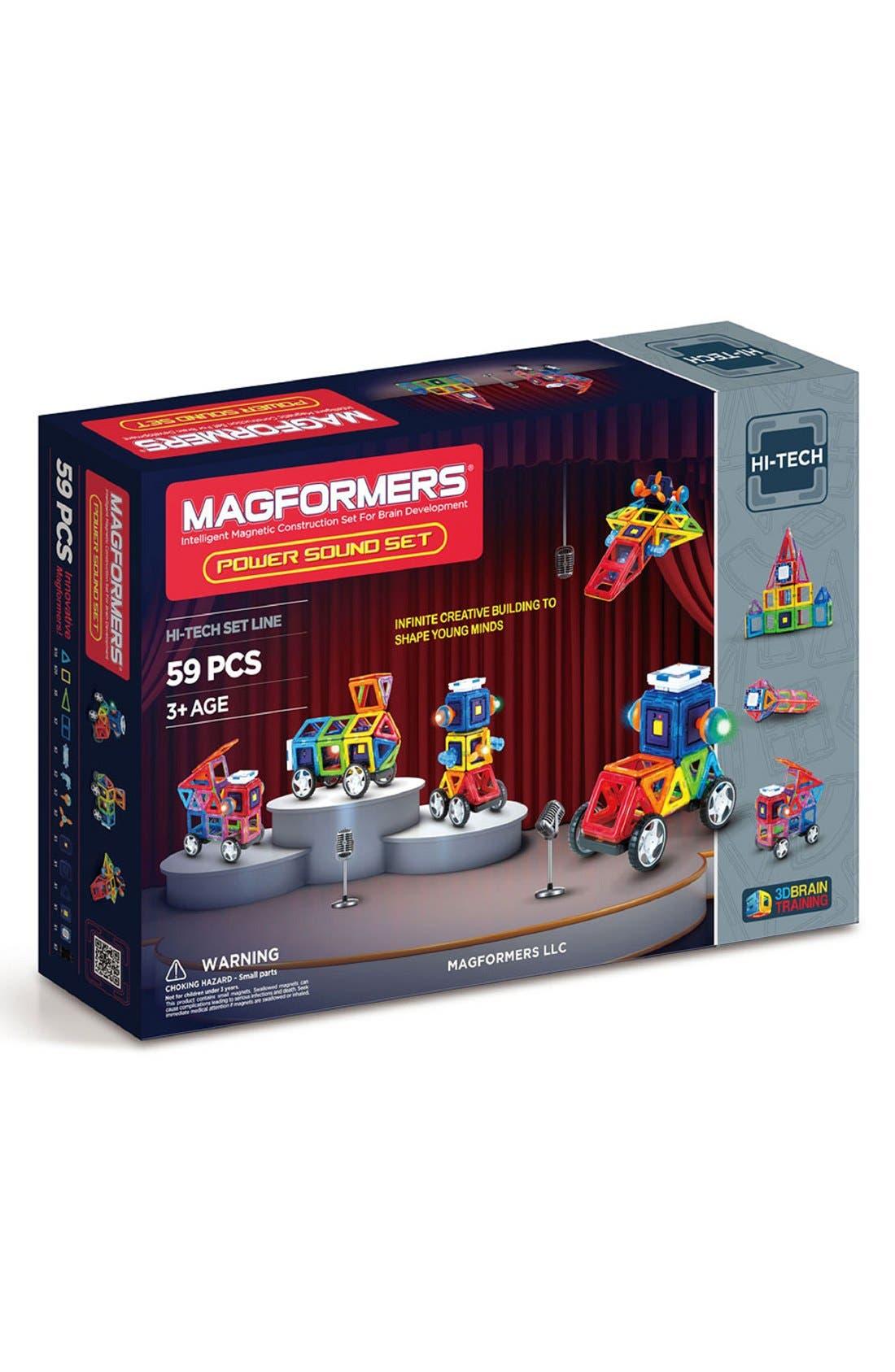 'Power Sound' Magnetic Construction Set,                             Main thumbnail 1, color,                             Rainbow