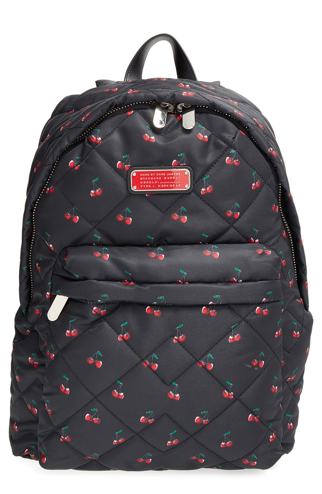 Main Image - MARC BY MARC JACOBS 'Crosby' Quilted Fruit Print Backpack
