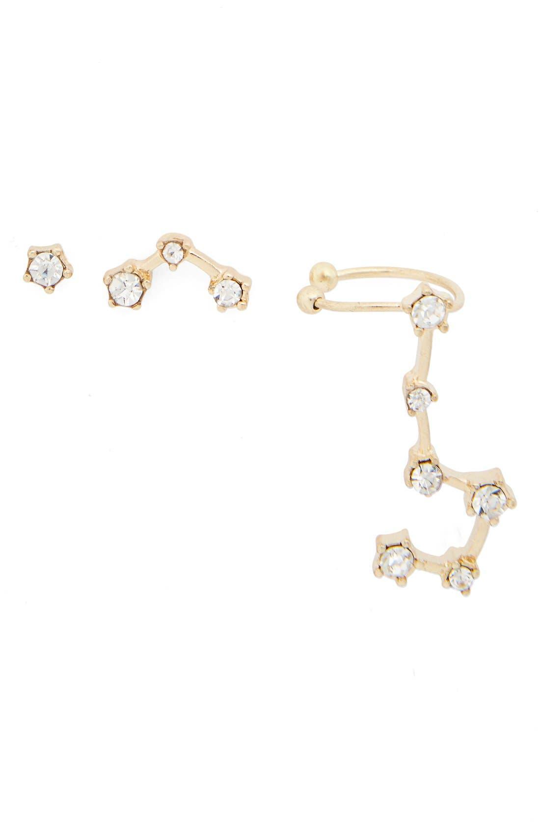 Alternate Image 1 Selected - BP. Crystal Constellation Earrings & Cuff (Set of 3)