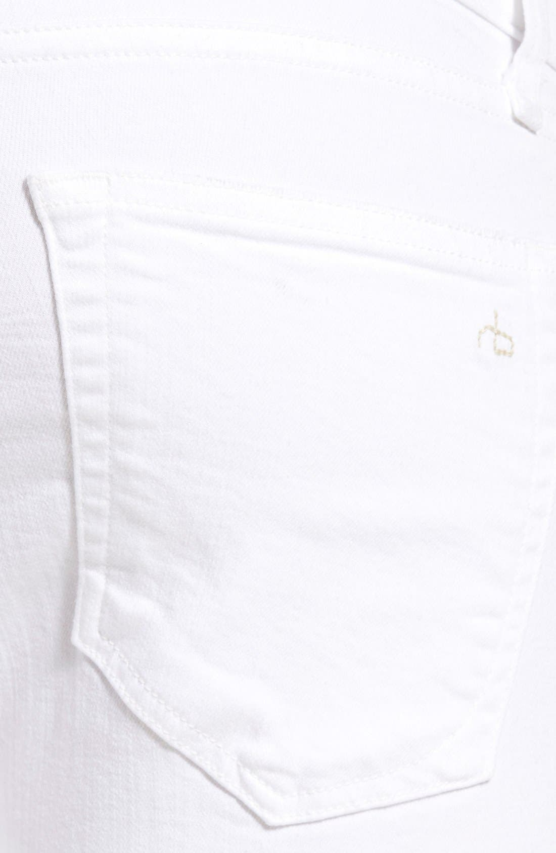 Alternate Image 4  - rag & bone Standard Issue Fit 1 Skinny Fit Jeans (Aged White)