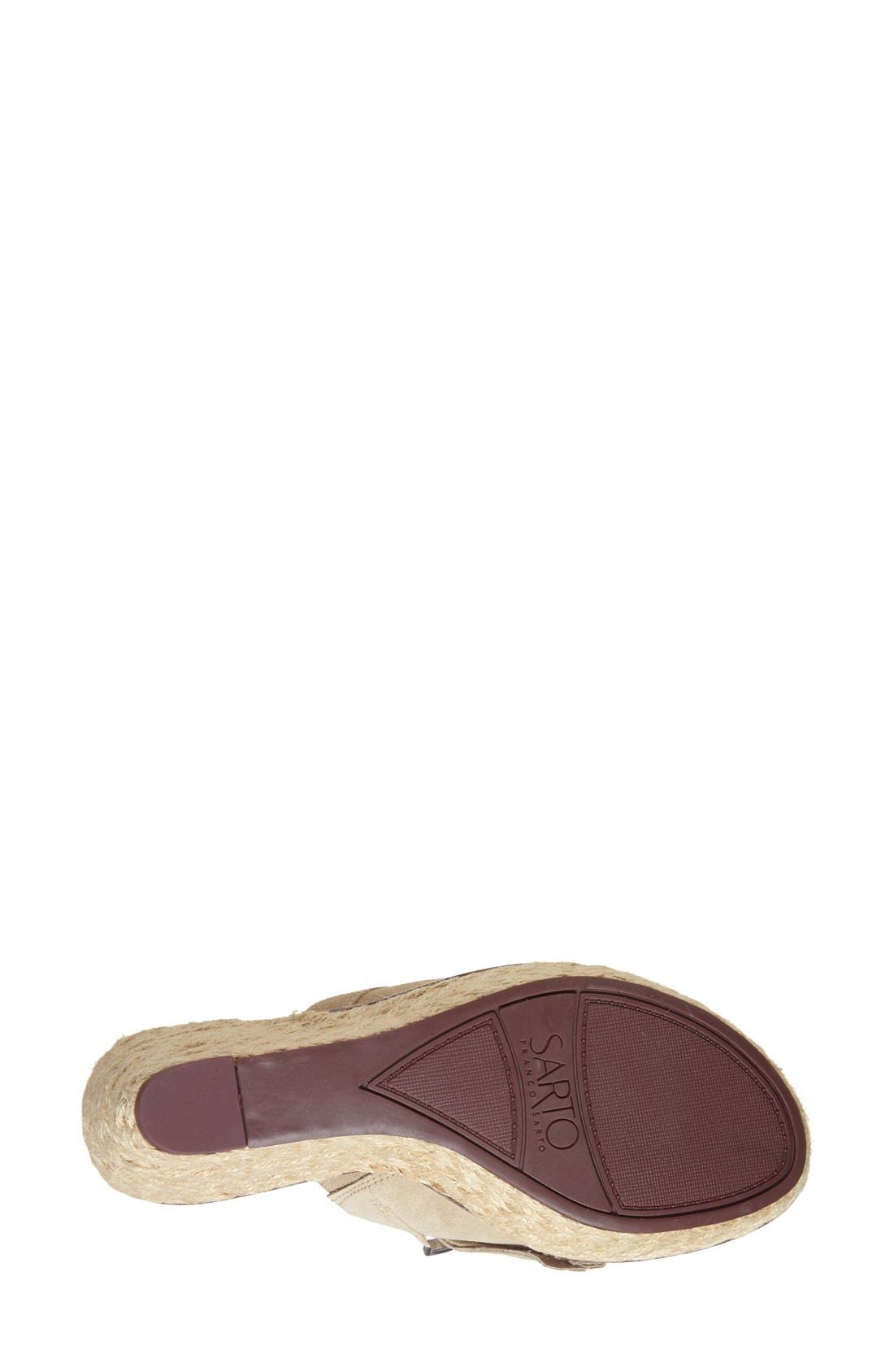 'Candace' Wedge Mule,                             Alternate thumbnail 4, color,                             Soft Tan Kid Suede