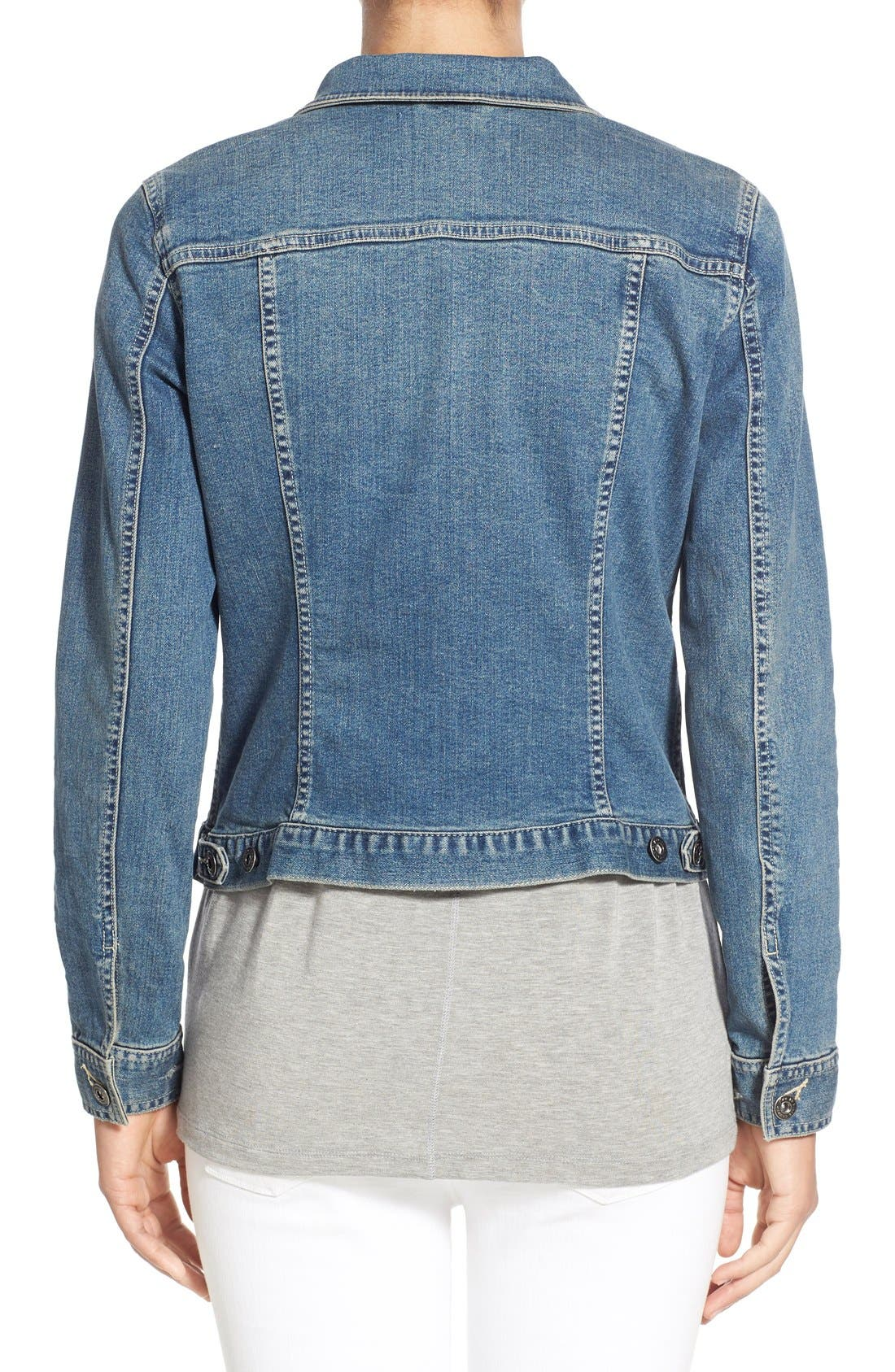 Alternate Image 3  - Two by Vince Camuto Jean Jacket (Regular & Petite)