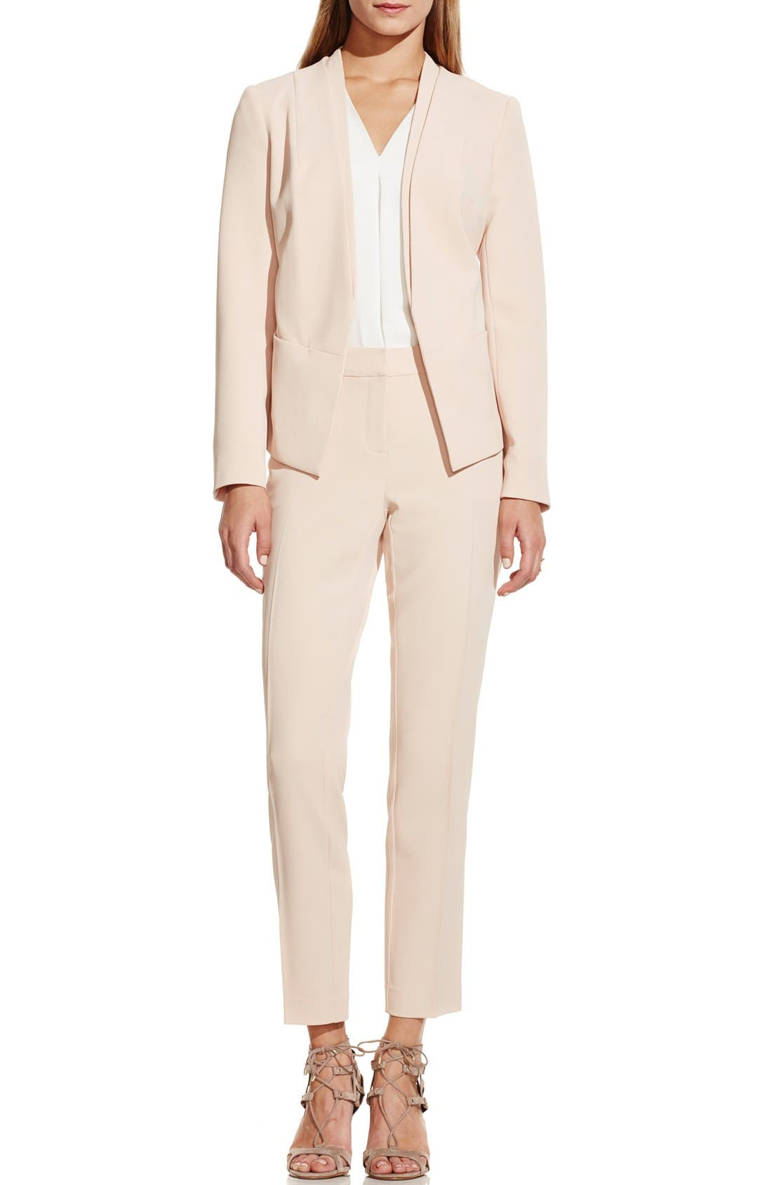 Alternate Image 2  - Vince Camuto Collarless Open Front Blazer