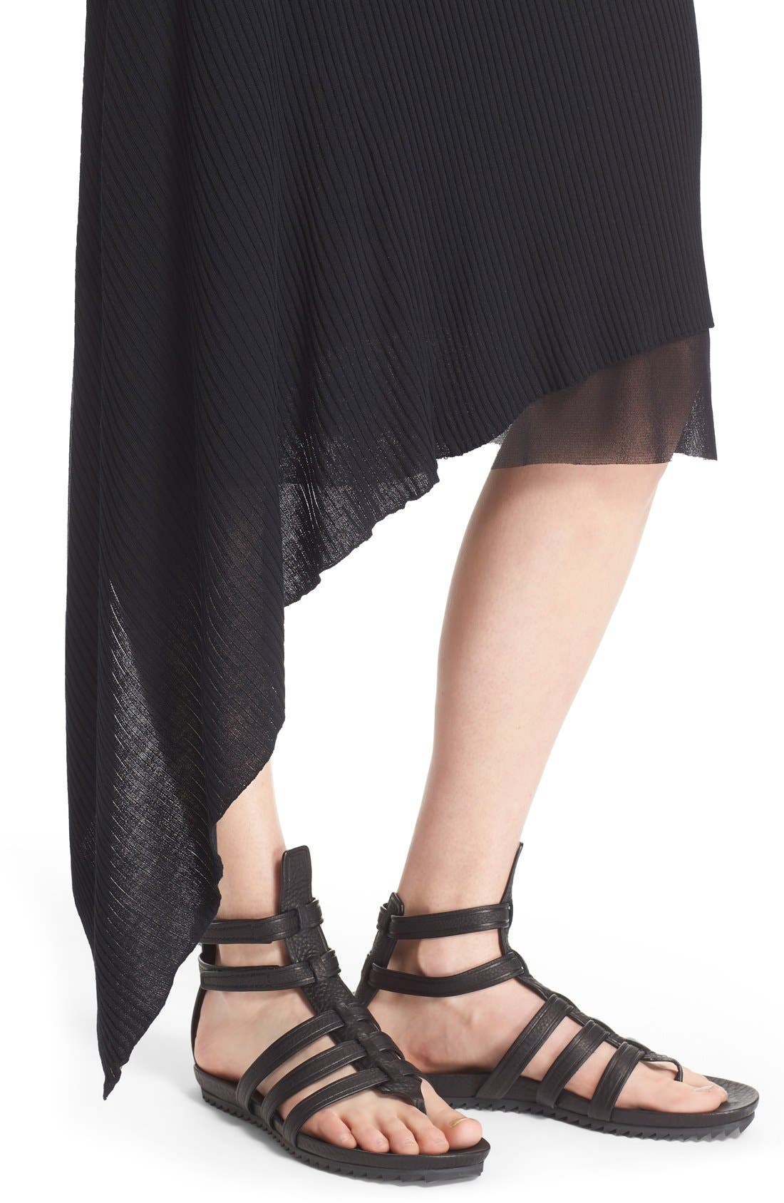 Alternate Image 6  - Fuzzi Asymmetrical Rib Knit Tank Dress