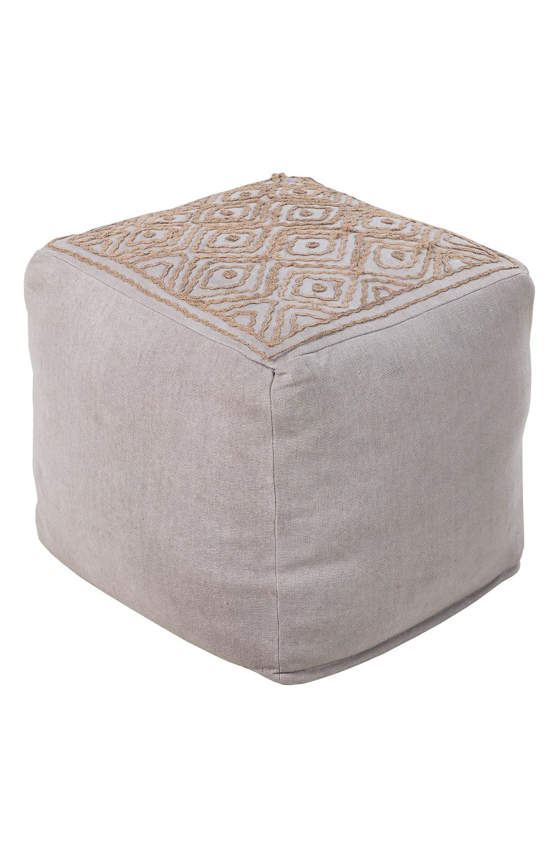 'Atlas' Pouf,                             Main thumbnail 1, color,                             Grey/ Taupe