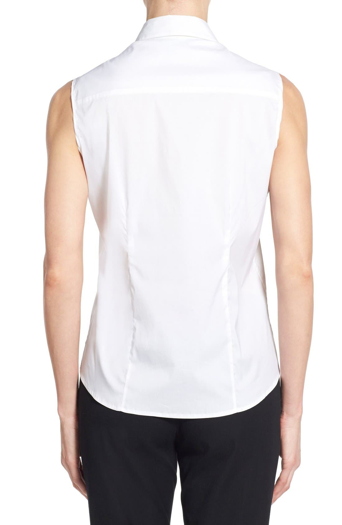 Sleeveless Blouse,                             Alternate thumbnail 2, color,                             White