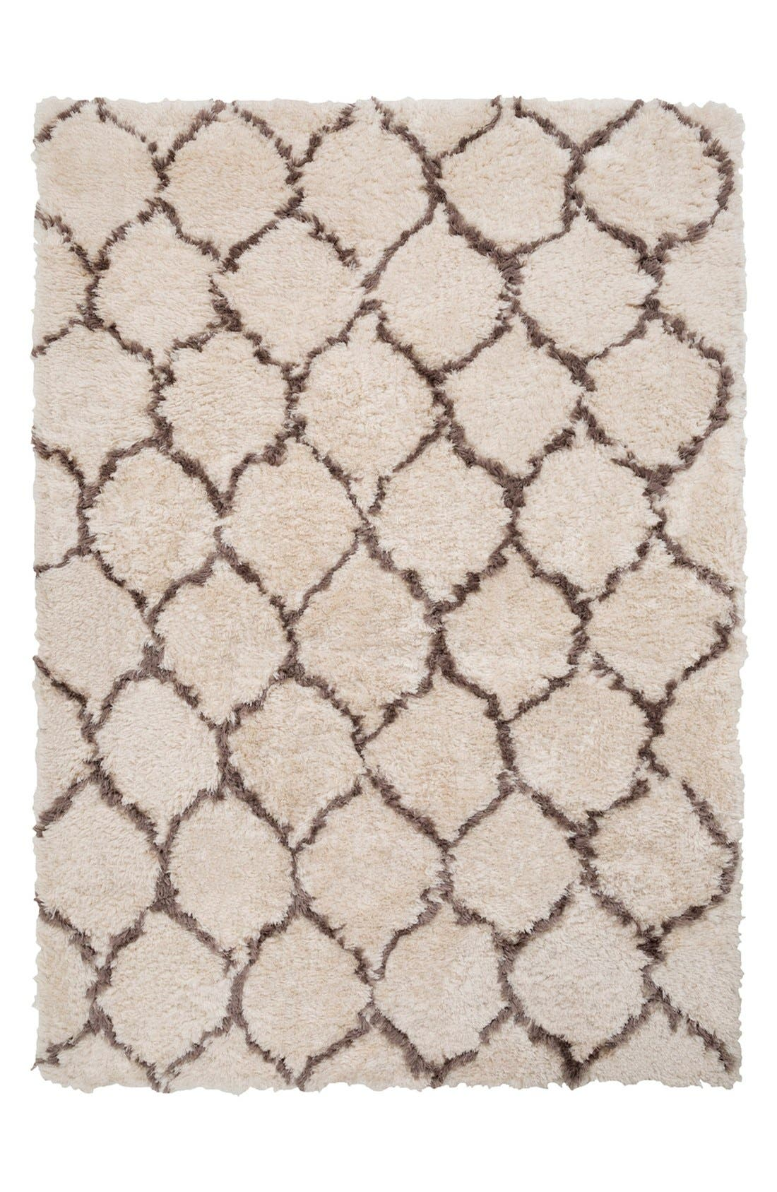'Scout' Hand Tufted Rug,                             Main thumbnail 1, color,                             Light Grey/ Olive
