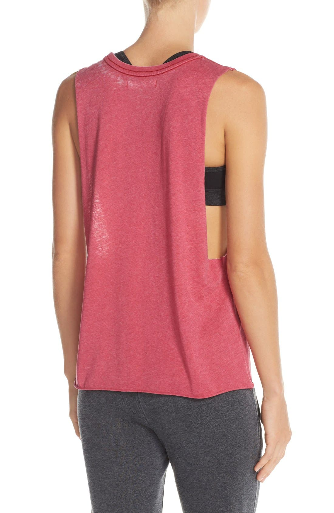 'Good Vibes' Muscle Tank,                             Alternate thumbnail 2, color,                             Popsicle