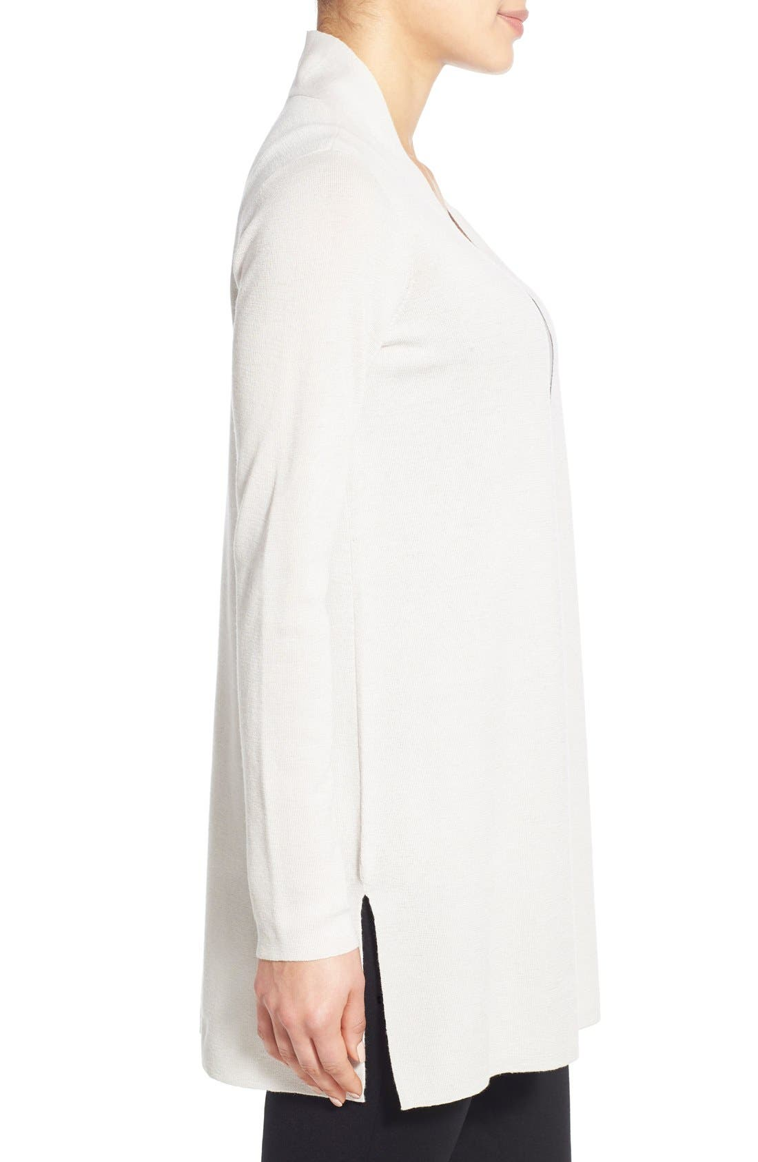 Alternate Image 3  - Eileen Fisher Merino Straight Long Cardigan (Regular & Petite)