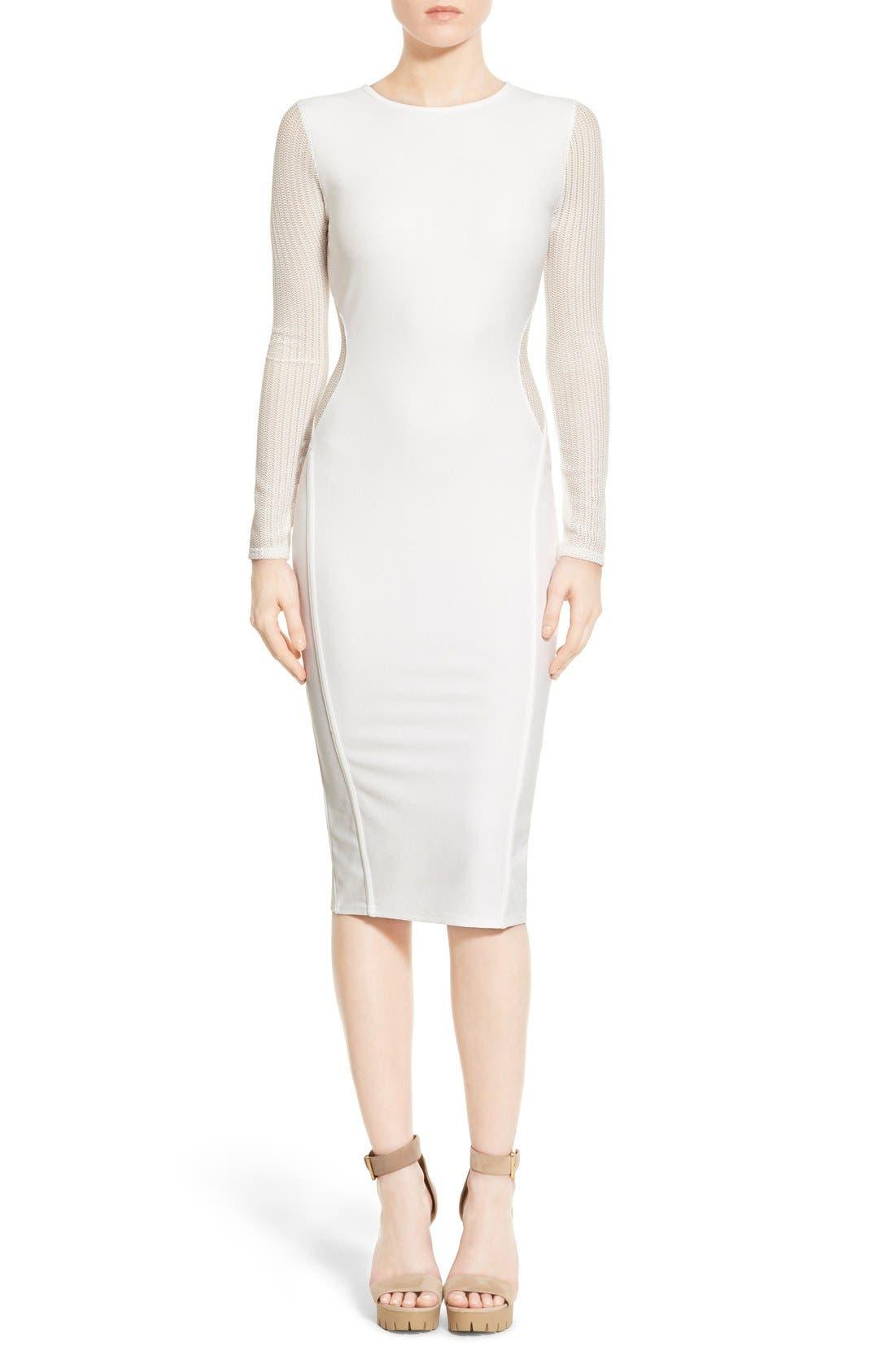 Alternate Image 1 Selected - Missguided Open Back Midi Dress