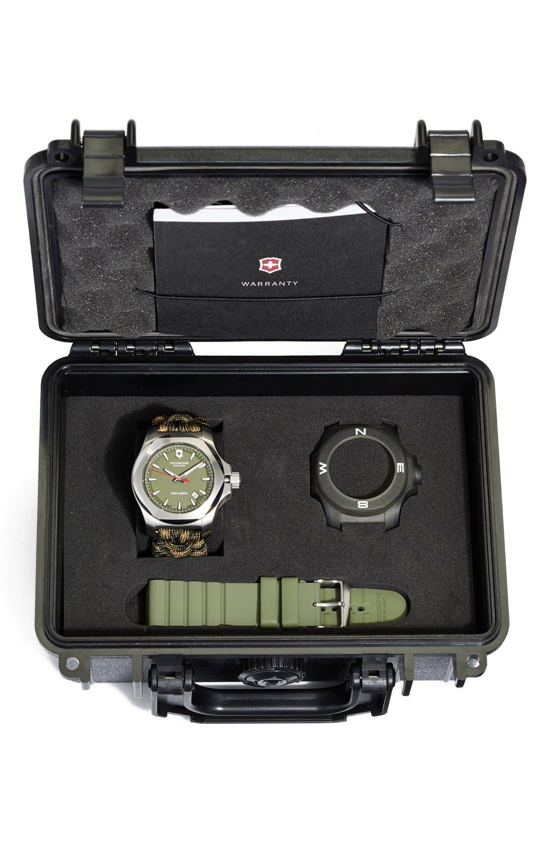 Alternate Image 4  - Victorinox Swiss Army® 'I.N.O.X.' Paracord Strap Watch, 43mm