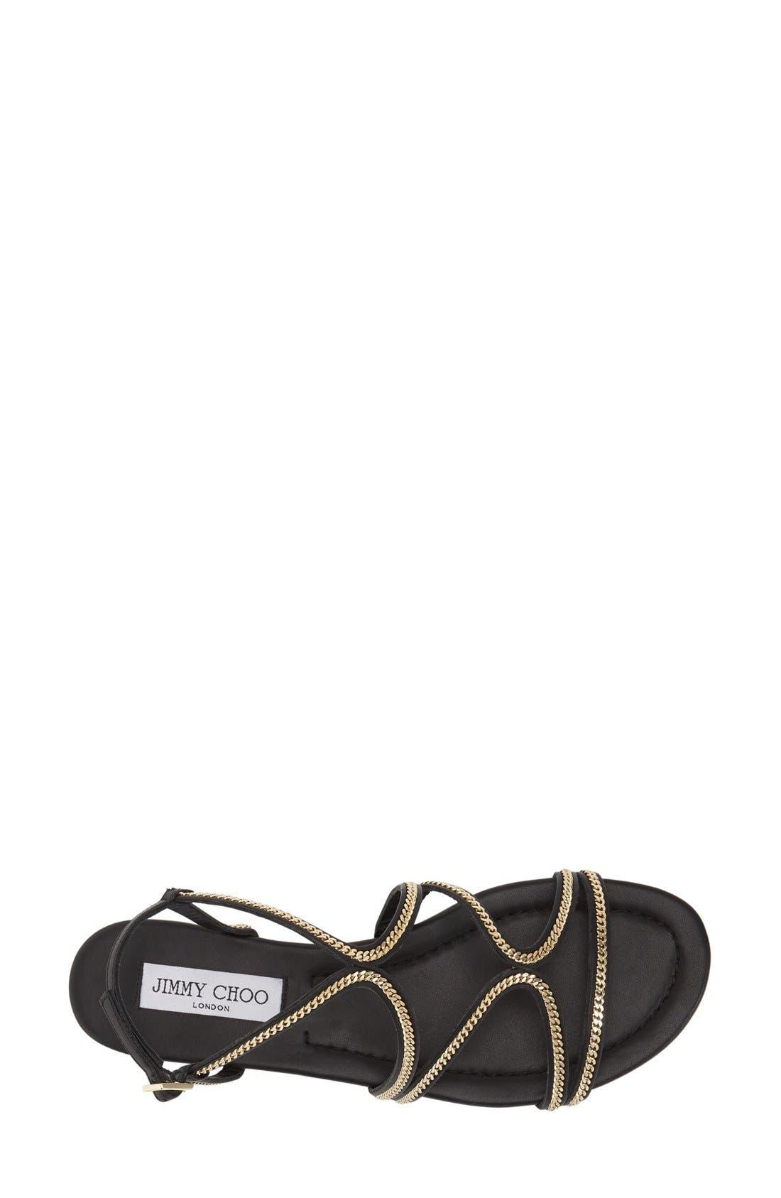 'Nickel' Sandal,                             Alternate thumbnail 3, color,                             Black Leather