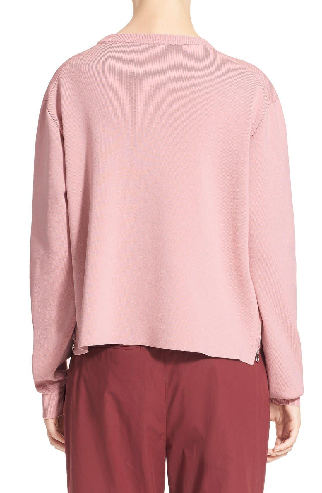 Alternate Image 2  - ACNE 'Misty Clean' Cotton Crewneck Sweater