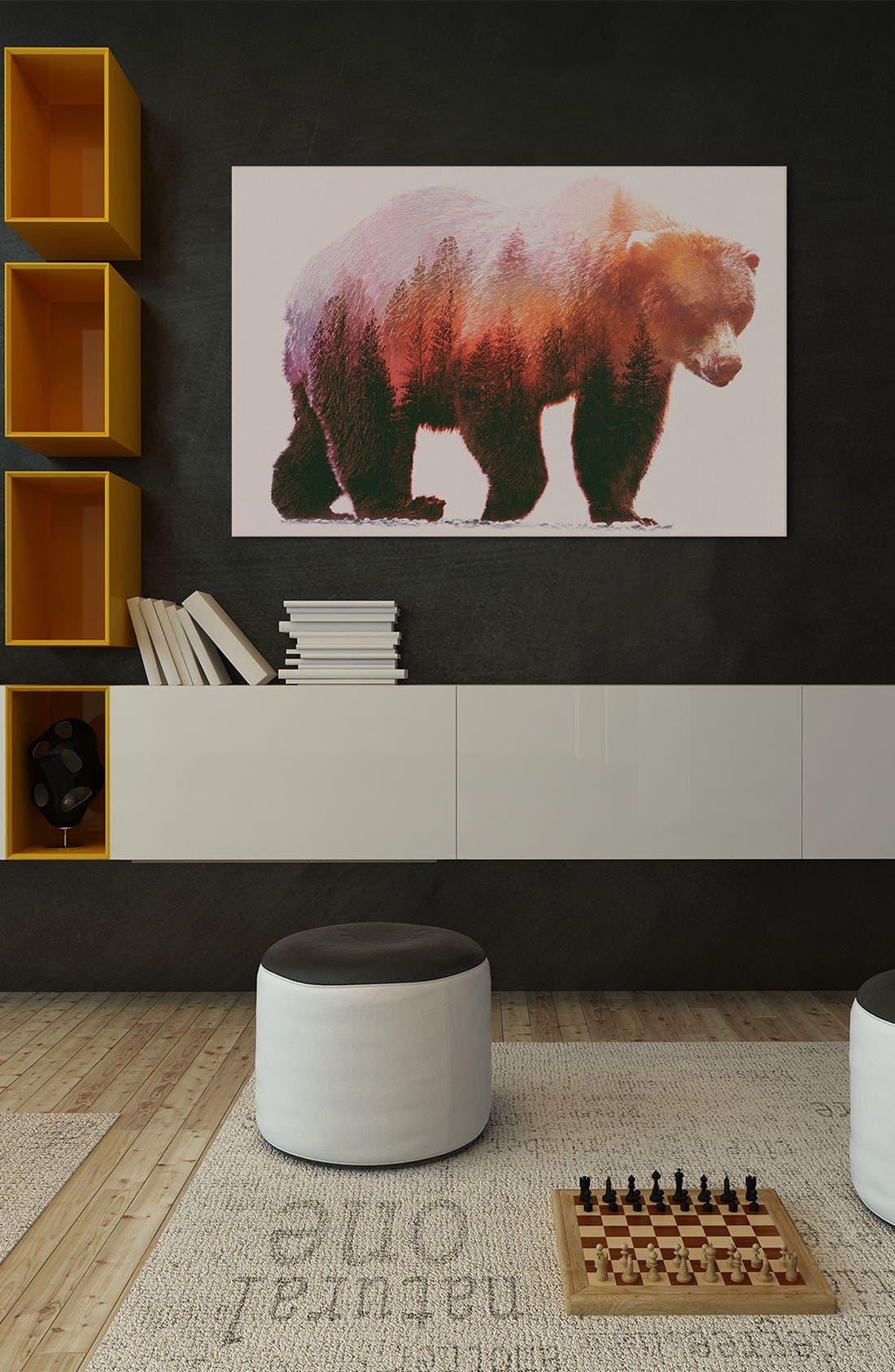 'Brown Bear' Giclée Print Canvas Art,                             Alternate thumbnail 2, color,                             Brown