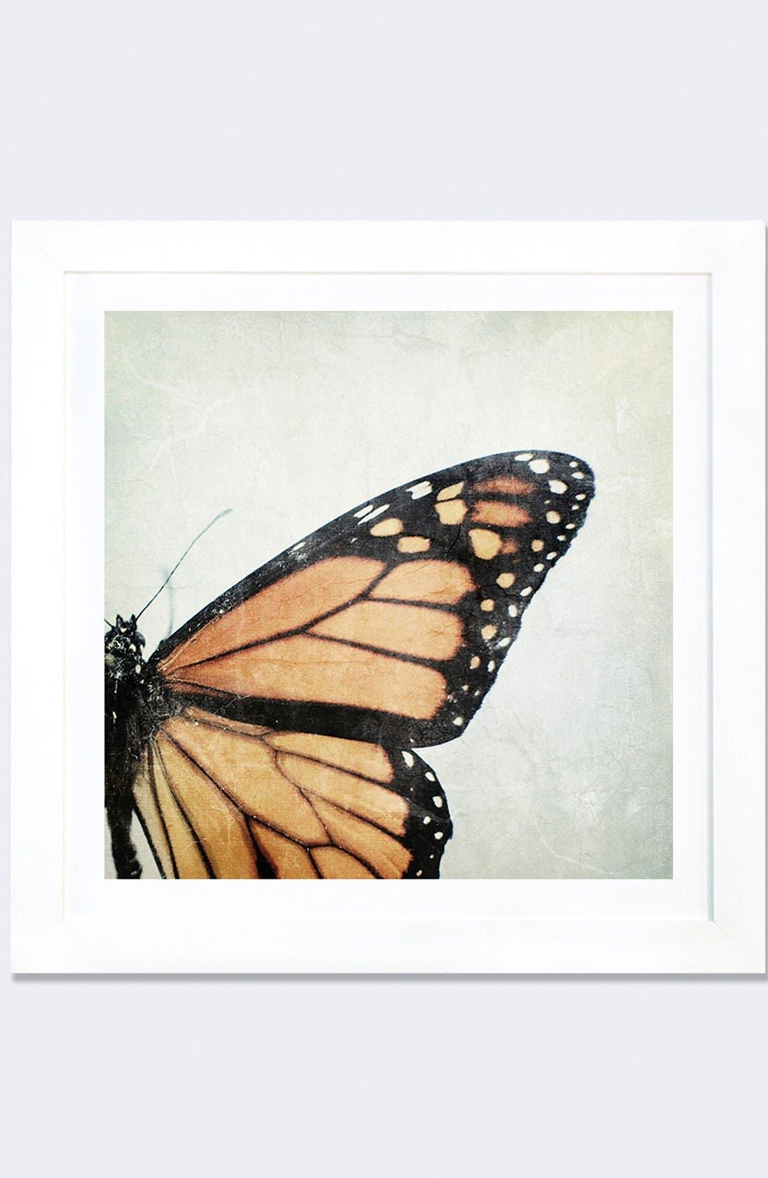 'The Monarch' Framed Fine Art Print,                         Main,                         color, White