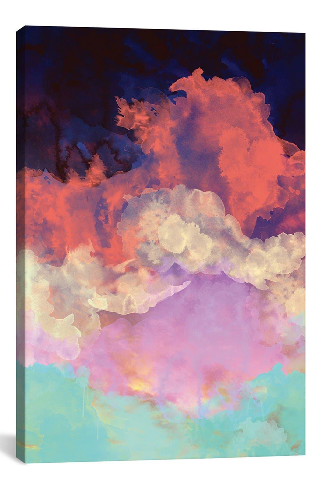 'Into the Sun' Giclée Print Canvas Art,                         Main,                         color, Black