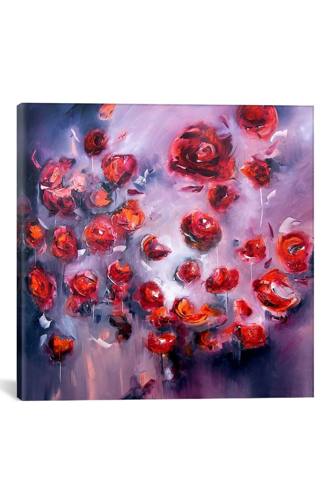 'Dance of Passion' Giclée Print Canvas Art,                         Main,                         color, Red