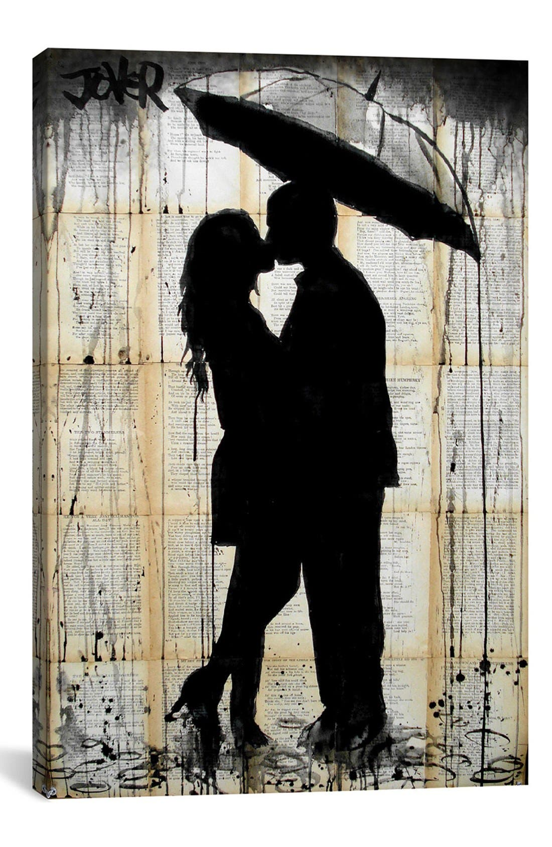 Alternate Image 1 Selected - iCanvas 'Rain Lovers' Giclée Print Canvas Art
