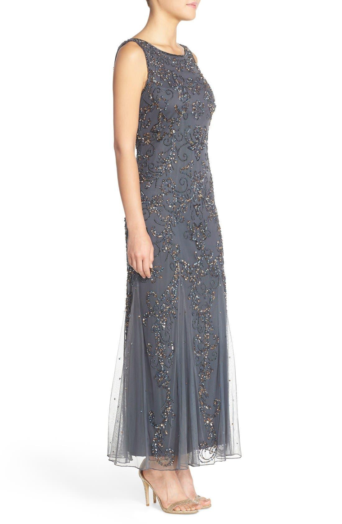 Alternate Image 3  - Pisarro Nights Embellished Mesh Gown