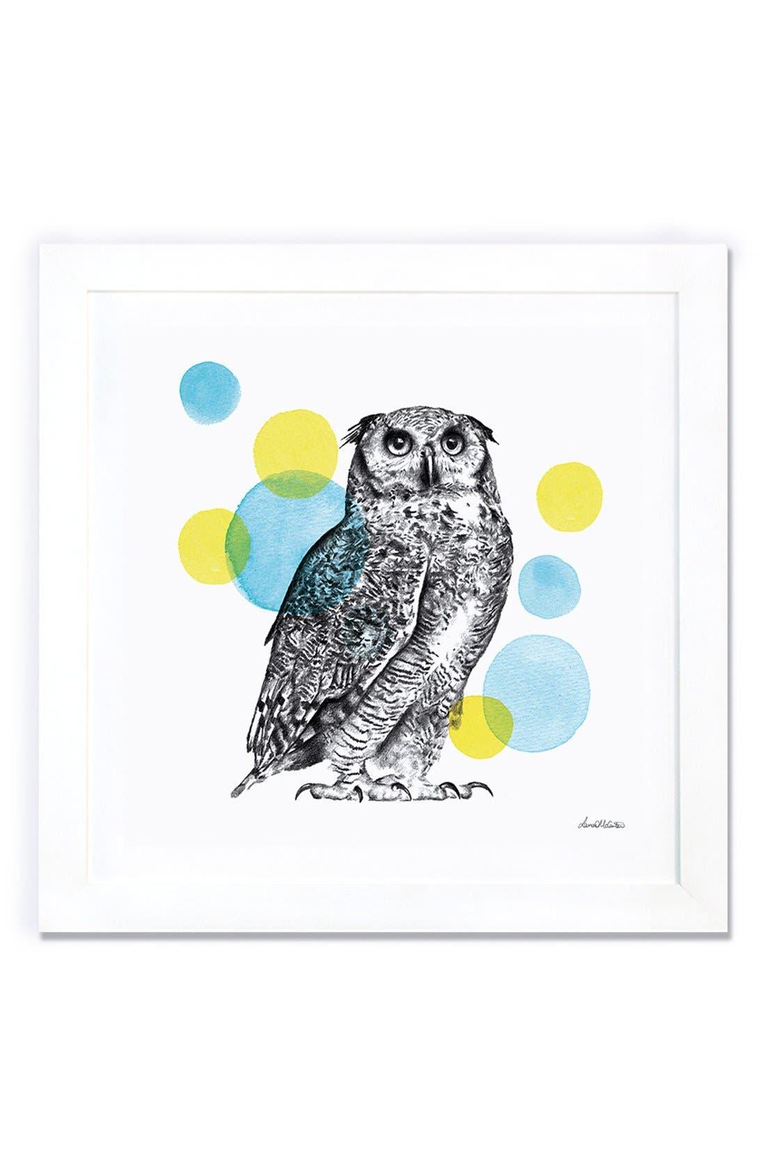 'Sketchbook - Owl' Giclée Print Framed Canvas Art,                             Main thumbnail 1, color,                             White