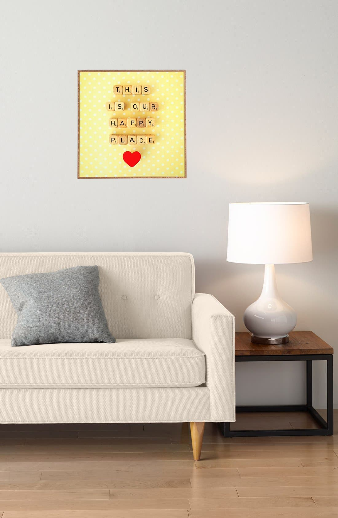 Alternate Image 3  - DENY Designs 'Our Happy Place' Framed Wall Art