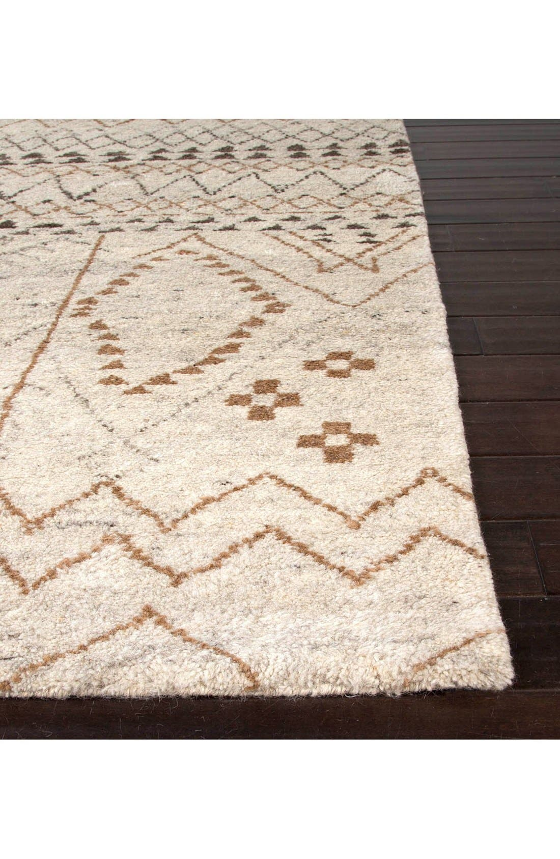 'Zola Zag' Wool Area Rug,                             Alternate thumbnail 2, color,                             Ivory/ Taupe