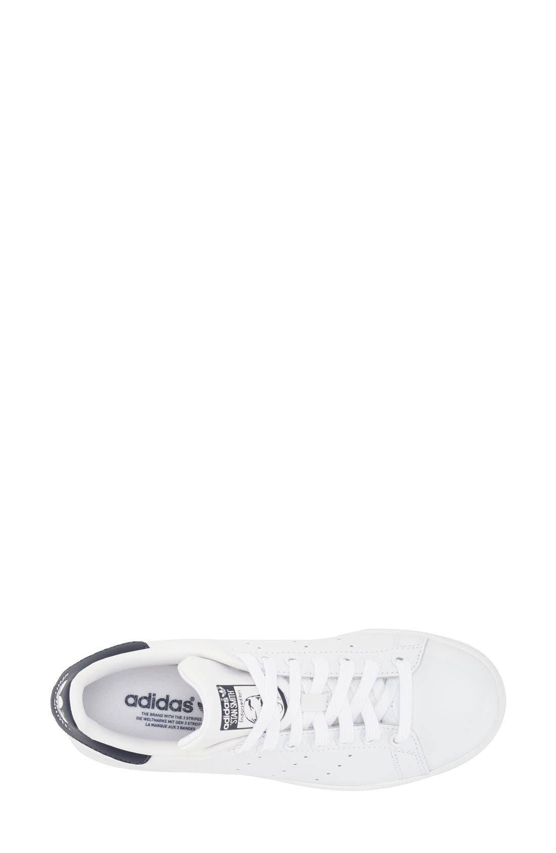 Stan Smith Sneaker,                             Alternate thumbnail 3, color,                             White/ Dark Blue
