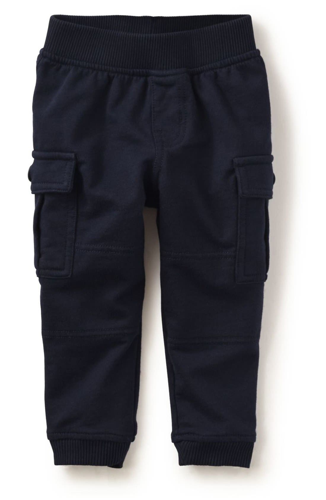 Tea Collection 'Ready to Roll' French Terry Cargo Pants (Baby Boys)