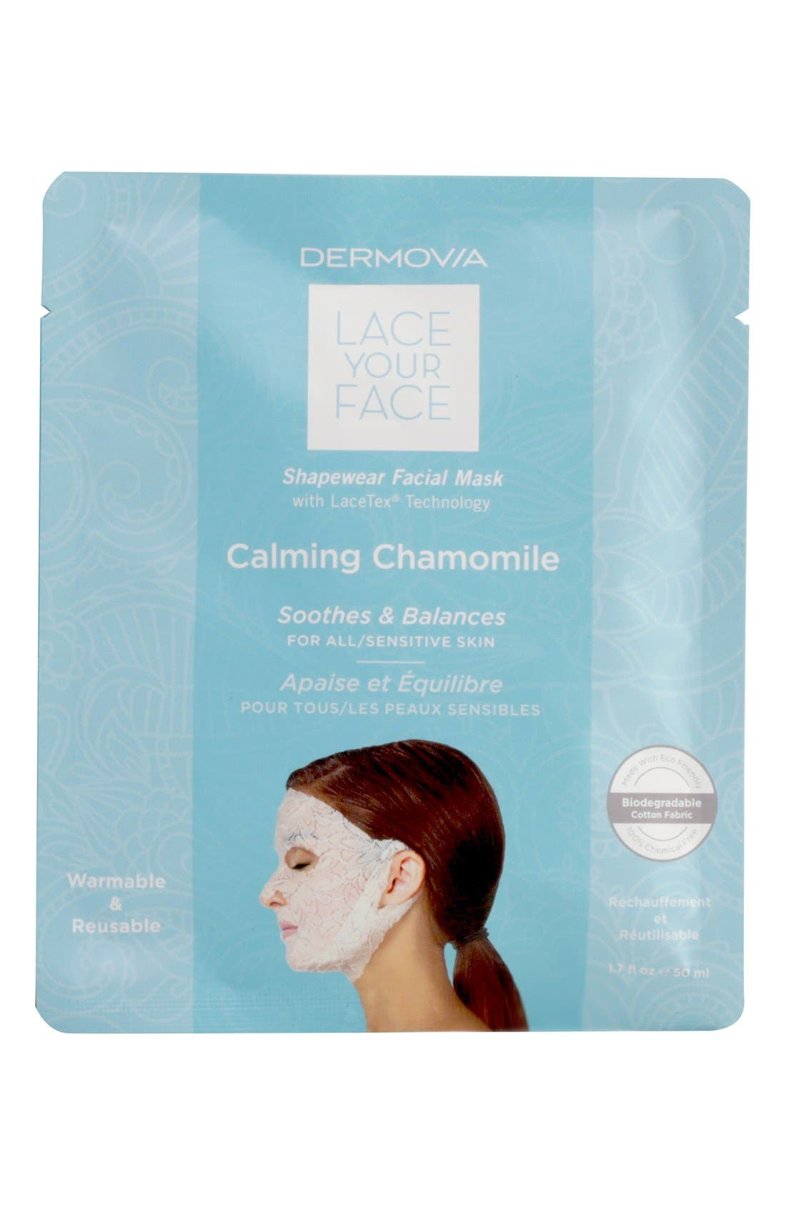 Dermovia Lace Your Face Chamomile Calming Compression Facial Mask
