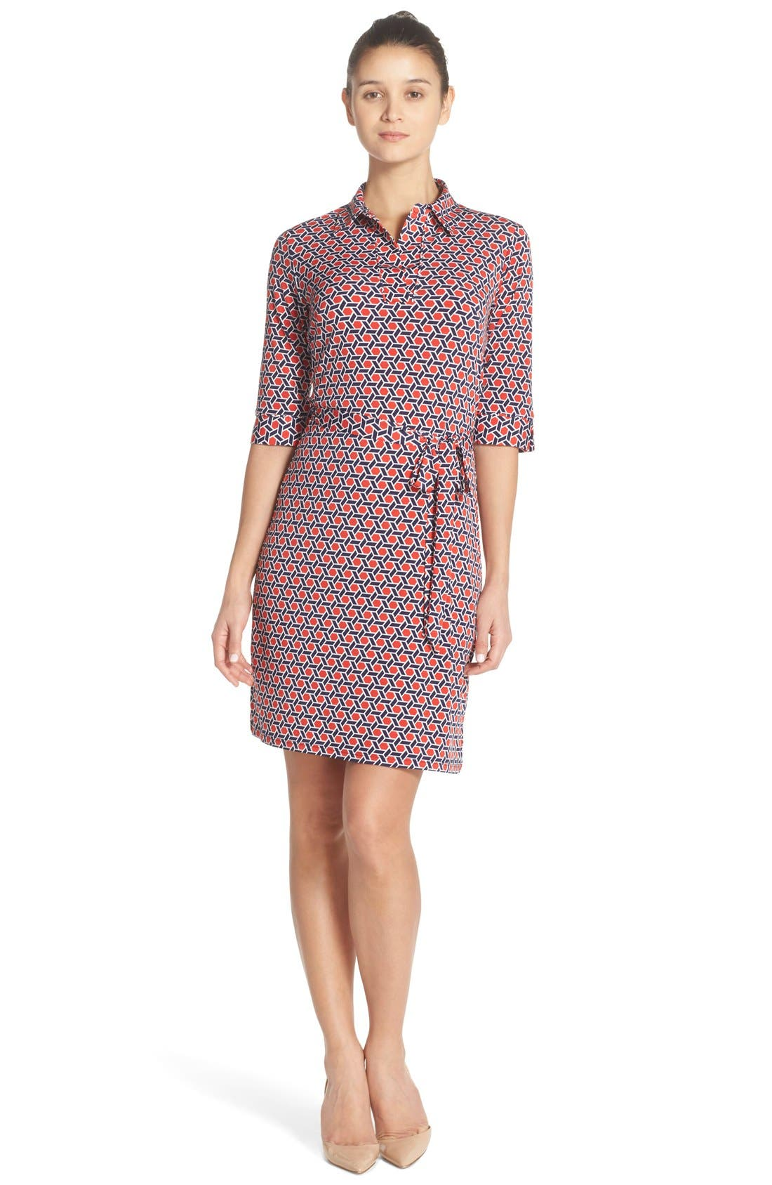 Alternate Image 1 Selected - Laundry by Shelli Segal Print Jersey Shirtdress
