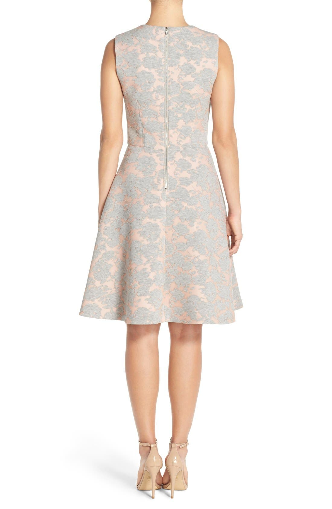 Alternate Image 2  - Maggy London Burnout Jersey Fit & Flare Dress (Regular & Petite)