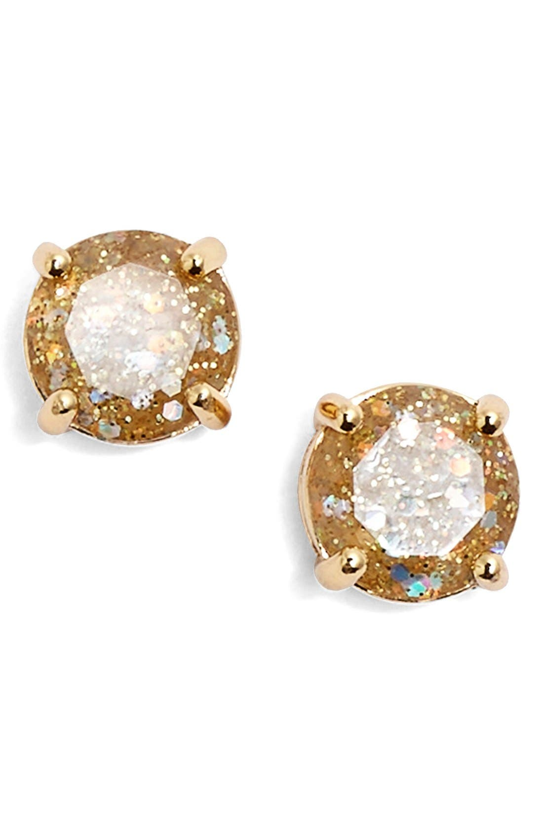 Alternate Image 1 Selected - kate spade new york 'mini glitter' stud earrings
