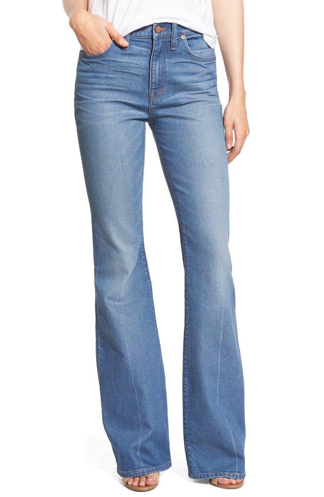 'Flea Market' Flare Jeans,                             Main thumbnail 1, color,                             Maribel